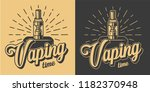 vintage vaping logotypes with... | Shutterstock .eps vector #1182370948