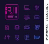 computer components icons set ... | Shutterstock .eps vector #1182373072
