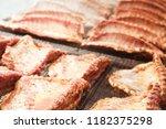 image of tasty pork ribs...   Shutterstock . vector #1182375298