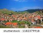 kontias village  lemnos  ... | Shutterstock . vector #1182379918