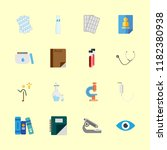 16 science icons set | Shutterstock .eps vector #1182380938