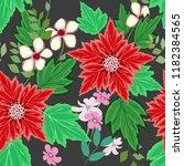 abstract flower seamless... | Shutterstock .eps vector #1182384565