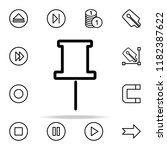 needle pin icon. web icons... | Shutterstock .eps vector #1182387622