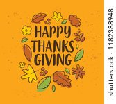 thanksgiving day. logo  text... | Shutterstock .eps vector #1182388948
