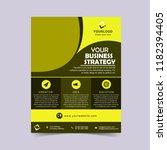 corporate business yellow flyer ... | Shutterstock .eps vector #1182394405