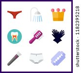 hygiene icon. crown and brush... | Shutterstock .eps vector #1182395218