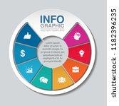 vector infographic template for ... | Shutterstock .eps vector #1182396235
