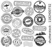 barcelona spain stamp vector... | Shutterstock .eps vector #1182400732