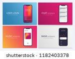set of mobile ui design...