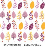autumn leaves floral template   ... | Shutterstock .eps vector #1182404632