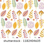autumn leaves floral template   ... | Shutterstock .eps vector #1182404635