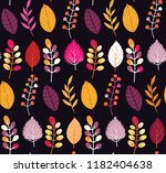 autumn leaves floral template   ... | Shutterstock .eps vector #1182404638