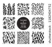 botanical vector textures for... | Shutterstock .eps vector #1182404752