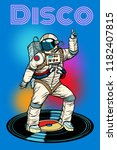 disco. astronaut dances. pop... | Shutterstock .eps vector #1182407815