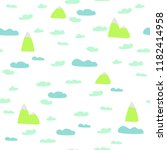 game background with clouds and ... | Shutterstock .eps vector #1182414958