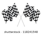 checkered flags isolated on... | Shutterstock .eps vector #118241548