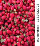 strawberries on the bench or... | Shutterstock . vector #1182422728