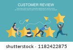concept of feedback ... | Shutterstock .eps vector #1182422875