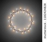 christmas decorative realistic...   Shutterstock .eps vector #1182424828