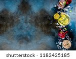 various autumn winter seasonal... | Shutterstock . vector #1182425185