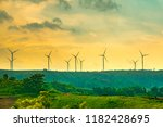 blurred windmill or wind... | Shutterstock . vector #1182428695