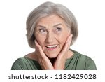 portrait of beautiful senior... | Shutterstock . vector #1182429028