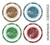 blank vector grunge rubber stamp | Shutterstock .eps vector #118243312