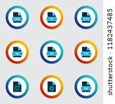 document icons colored set with ... | Shutterstock .eps vector #1182437485