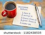 overcome failure tips  ... | Shutterstock . vector #1182438535