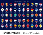 map pointers with all official... | Shutterstock .eps vector #1182440668