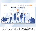 landing page template of meet... | Shutterstock .eps vector #1182440932