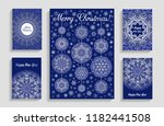 christmas cards with mandala... | Shutterstock .eps vector #1182441508