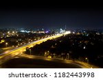 road in the night city | Shutterstock . vector #1182443998