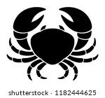 black crab on a white background | Shutterstock .eps vector #1182444625