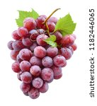 ripe red grape with drops.... | Shutterstock . vector #1182446065