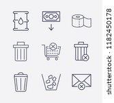 outline 9 waste icon set. money ...   Shutterstock .eps vector #1182450178