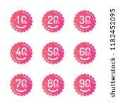set of trendy sale stickers....   Shutterstock .eps vector #1182452095