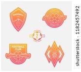 set of football or soccer... | Shutterstock .eps vector #1182457492