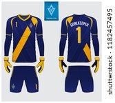 goalkeeper jersey or soccer kit ... | Shutterstock .eps vector #1182457495