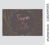 save the date invitation card....   Shutterstock .eps vector #1182459355