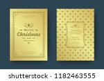 christmas greeting card design... | Shutterstock .eps vector #1182463555