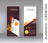 roll up banner stand brochure... | Shutterstock .eps vector #1182467662