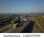 aerial drone flight over a...   Shutterstock . vector #1182479395