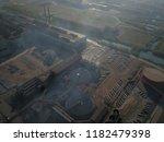 aerial drone flight over a...   Shutterstock . vector #1182479398