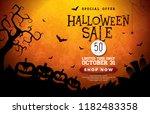 halloween sale banner... | Shutterstock .eps vector #1182483358