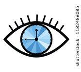 vector illustration of eye with ... | Shutterstock .eps vector #1182486085