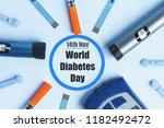 diabetes. world diabetes day ... | Shutterstock . vector #1182492472