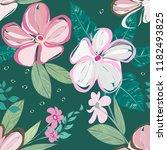 abstract flower seamless... | Shutterstock .eps vector #1182493825