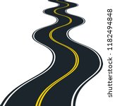 isolated road curves   clip art ... | Shutterstock .eps vector #1182494848