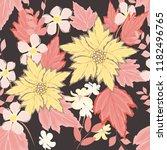 autumn  seamless pattern... | Shutterstock .eps vector #1182496765